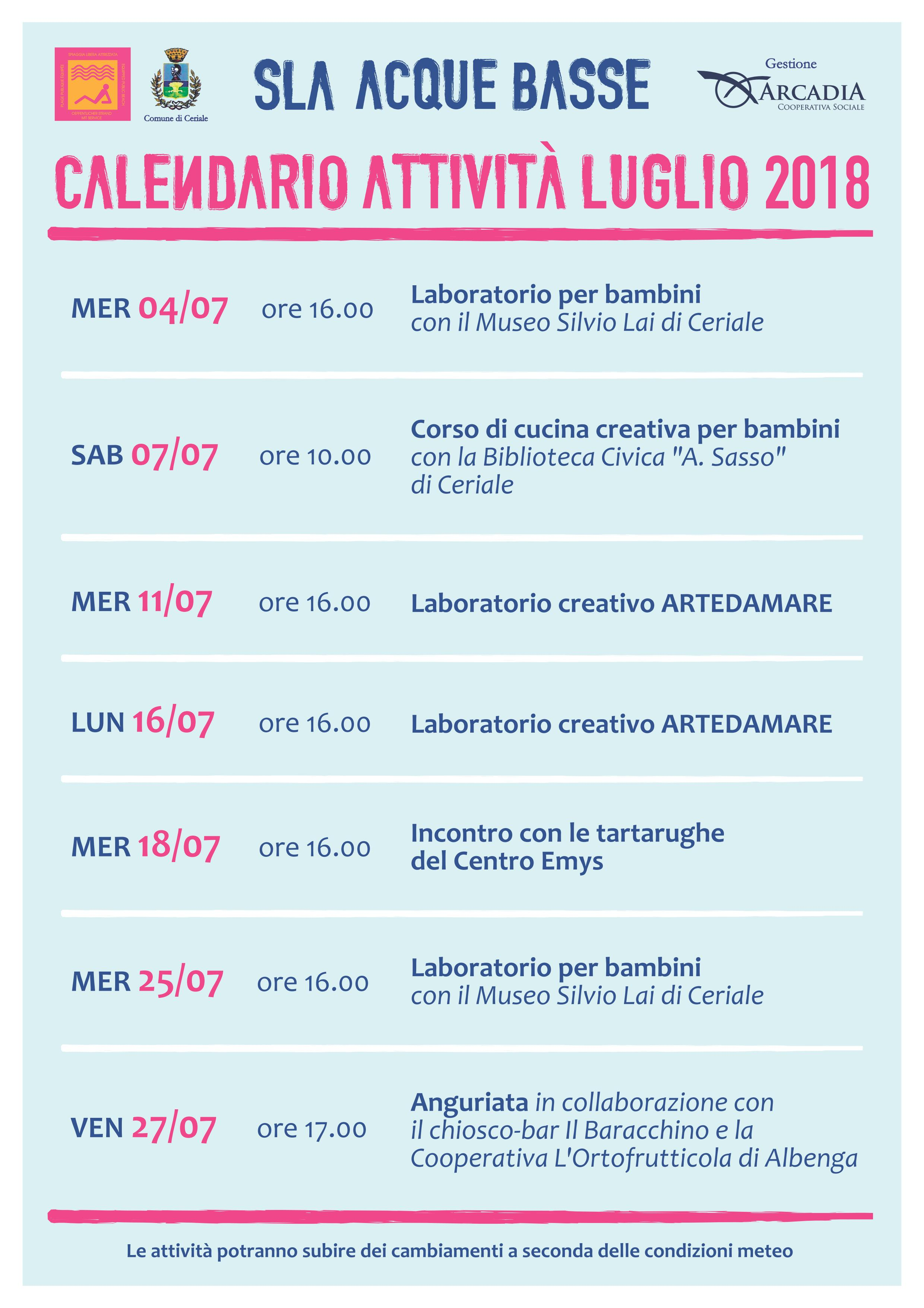 Calendario Attivita.Slaab Calendario Attivita Luglio18 Museo Paleontologico
