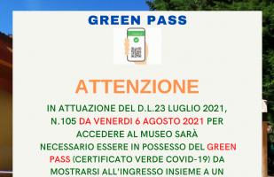 Accesso al museo solo con Green Pass!